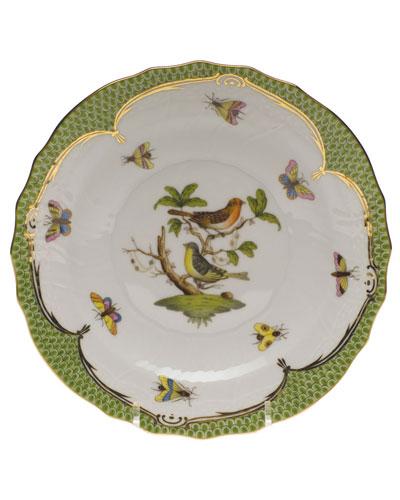Rothschild Bird Green Motif 03 Salad Plate