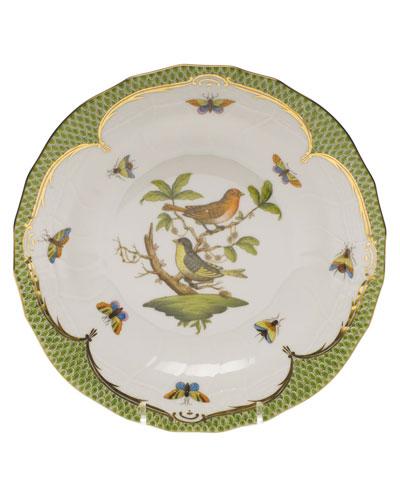 Rothschild Bird Green Motif 03 Dessert Plate