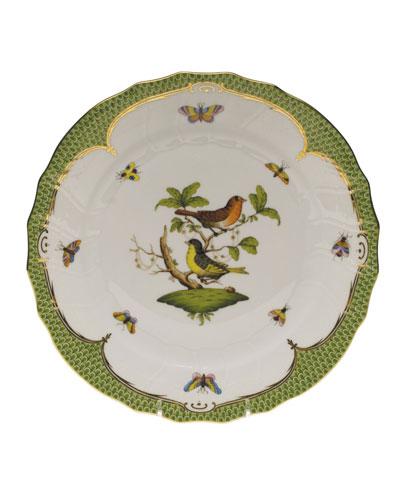 Rothschild Bird Green Motif 03 Dinner Plate