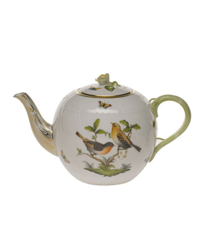 Rothschild Bird Teapot with Rose