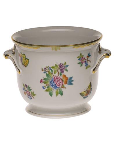 Queen Victoria Green Medium Cache Pot