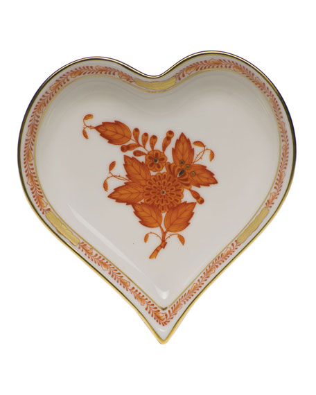 Chinese Boutique Rust Small Heart Tray