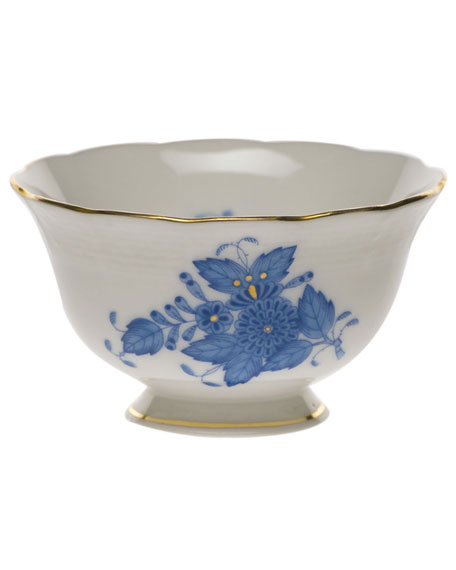 Chinese Bouquet Blue Open Sugar Bowl