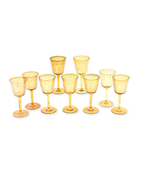 Antique Stag Goblets, Set of 9