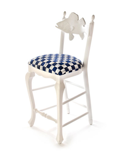 Outdoor Royal Check Fish Bar Stool