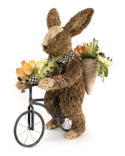Farmhouse Garden Bunny on Bike