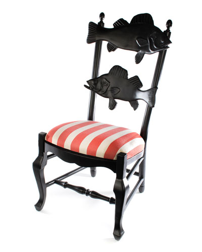 Outdoor Cabana Stripe Fish Chair