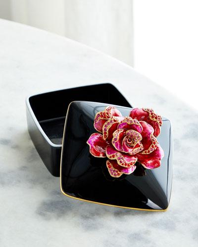 Rose Porcelain Box