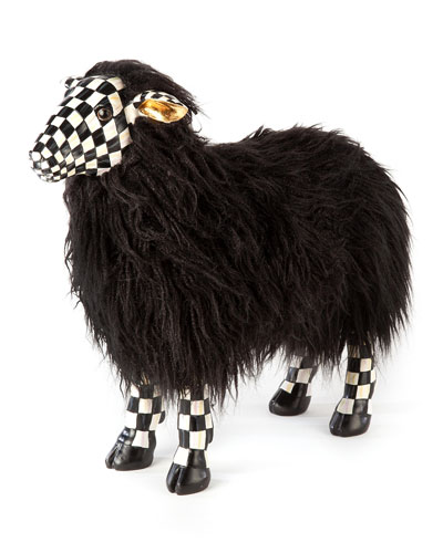 Courtly Check Small Black Sheep
