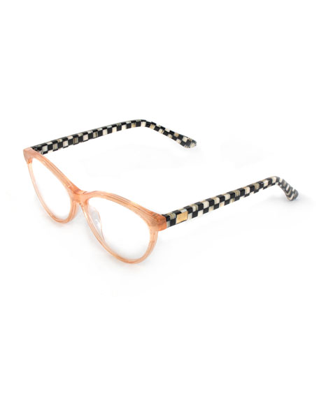 Image 1 of 1: Rose Gold Leno Readers, +3.00