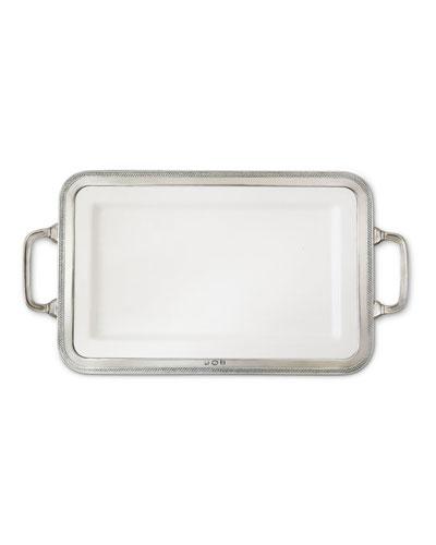 Luisa Rectangular Medium Platter with Handles