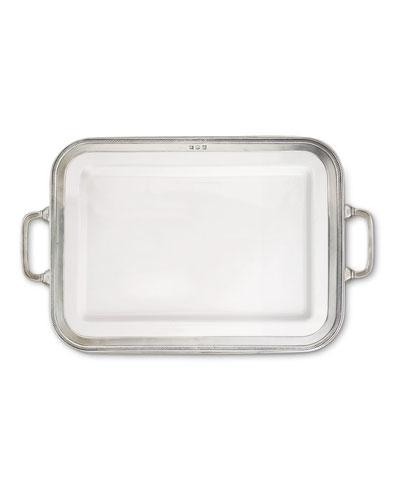 Luisa Rectangular Large Platter with Handles