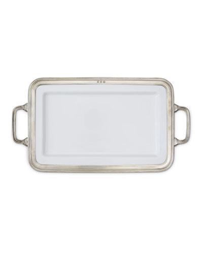 Gianna Rectangular Medium Platter with Handles