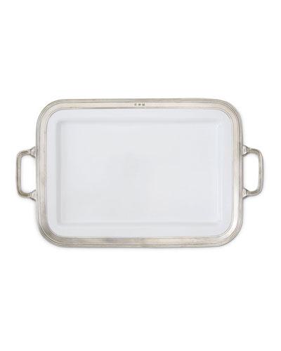 Gianna Rectangular Large Platter with Handles
