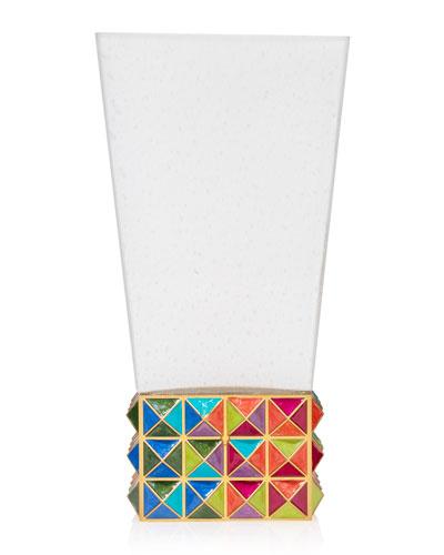 Rainbow Pyramid Vase
