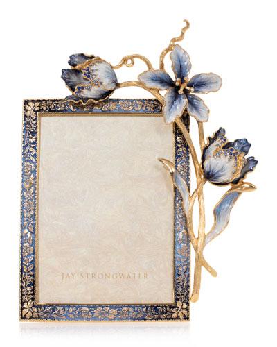 Indigo Tulip Picture Frame  5 x 7
