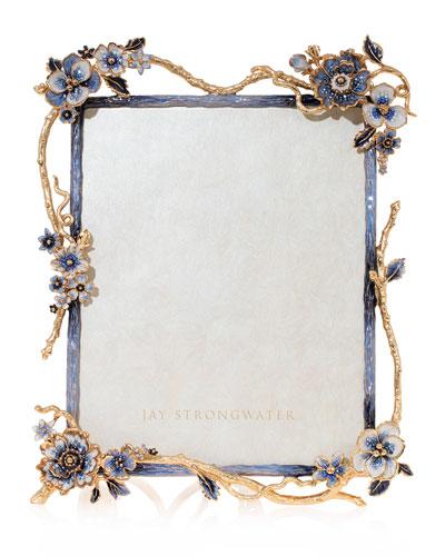 Indigo Floral Branch Frame  8 x 10