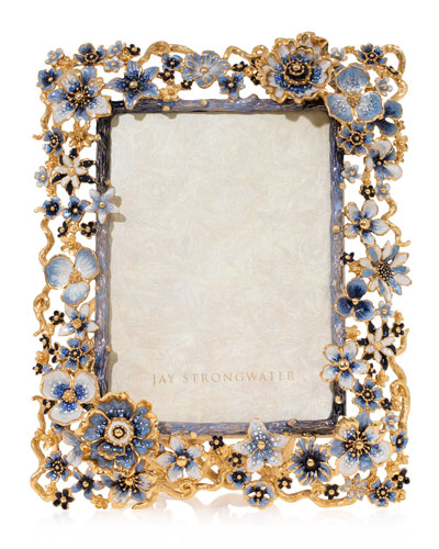 Indigo Cluster Flower Frame  5 x 7
