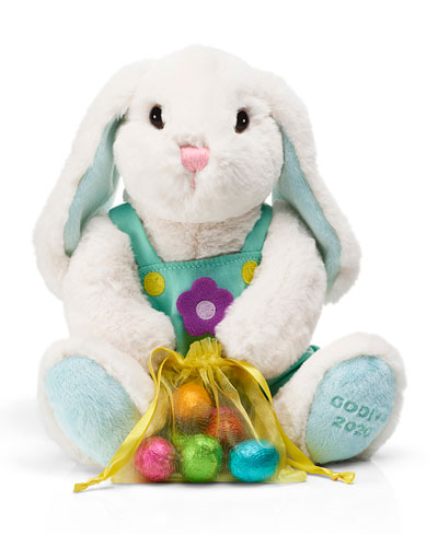 Plush Bunny with Chocolate Foil Eggs
