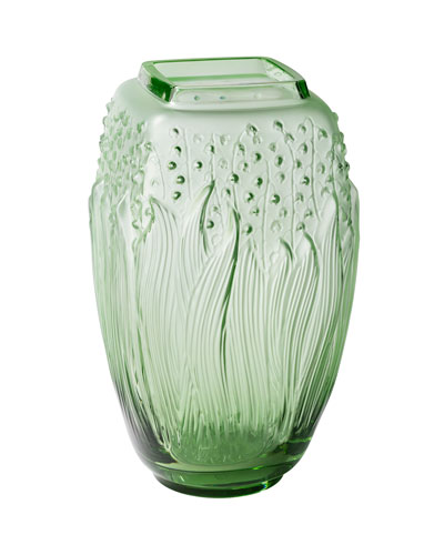 Green Muguet Vase