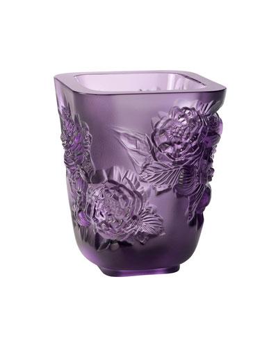 Purple Pivoines Small Vase
