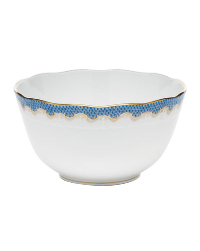 Blue Fish Scale Round Bowl
