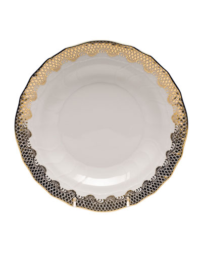 Gold Fish Scale Dessert Plate