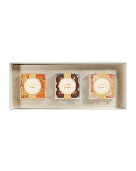 Image 1 of 1: Sweet and Sparkling 3-Piece Candy Bento Box