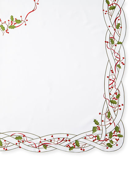 "Image 1 of 1: Holly Vine 72"" x 108"" Tablecloth & 12 Napkins"