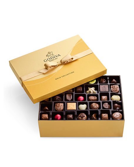 Image 1 of 1: 105-Piece Assorted Chocolate Gold Gift Box