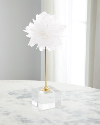 Floating Selenite Ball on Crystal Stand