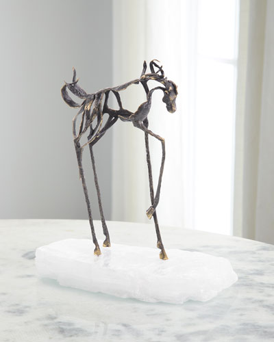 Sculptural Horse on Selenite