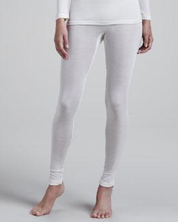 Silk Leggings, Pale Cream