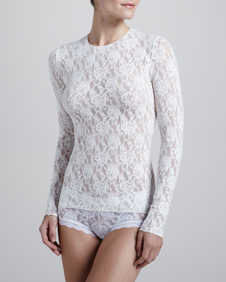 Signature Lace Unlined Long-Sleeve Tee