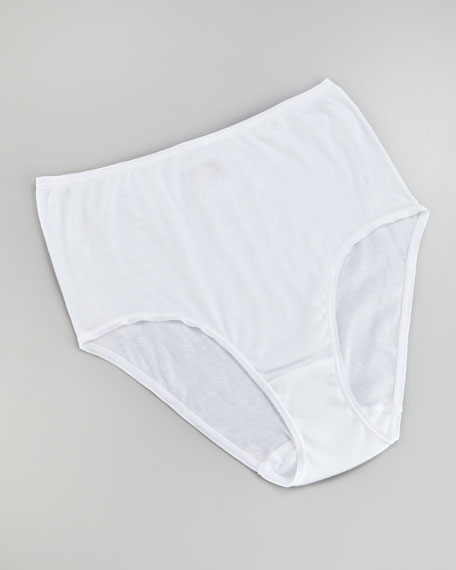 Cotton Seamless Briefs, White