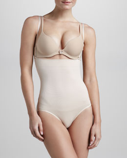 Wacoal Cool Definition High-Waist Briefs with Shoulder Straps, Nude