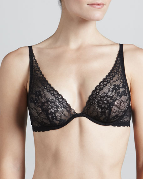 Rosa Floral-Lace Triangle Bra