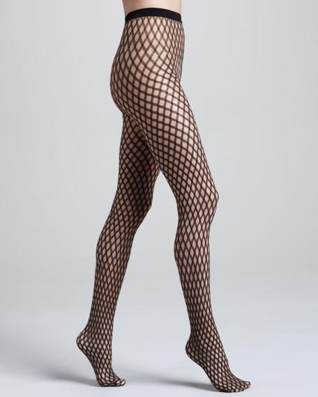 Sylvie Diamond-Pattern Tights