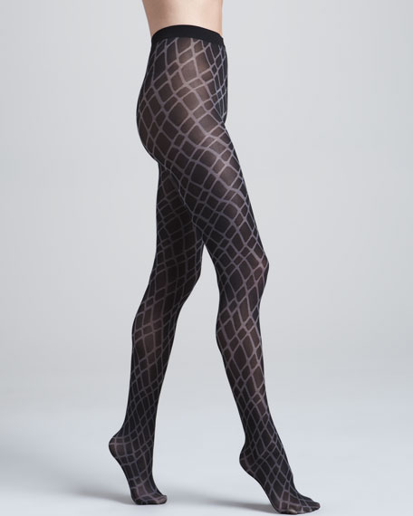 Thekla Crisscross Tights, Black/Beluga