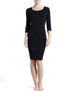 Barcelona 3/4-Sleeve Lounge Dress