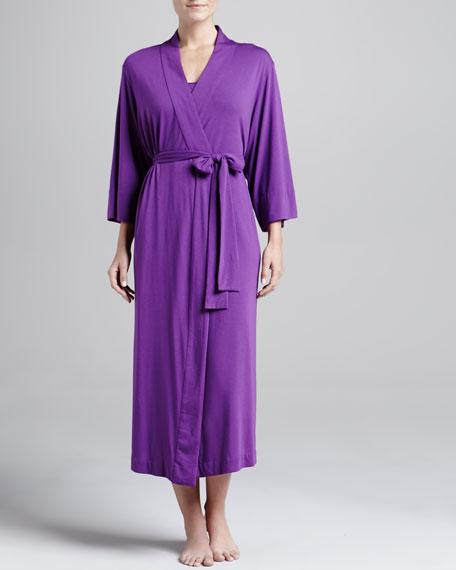 Shangri-La Jersey Robe, Royal Fuchsia