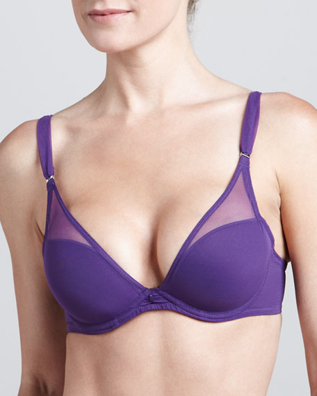 So Sublime Plunge Bra, Violet
