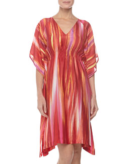 Natori Hayworth Short Caftan, Azalea