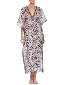 Oscar de la Renta Reflections Animal-Print Caftan