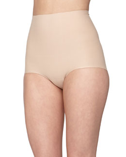 Seamless Cotton Control Briefs, True Nude