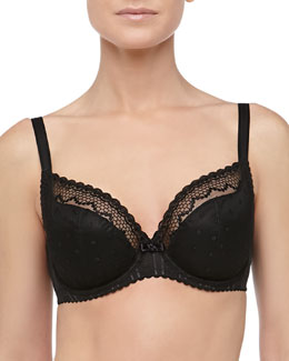 Mutine Full-Figure Plunge Bra, Black