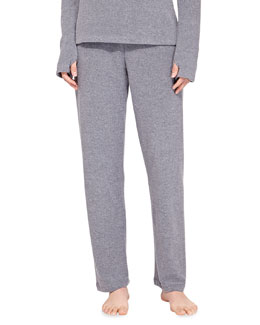 Aosta Fleece Straight-Leg Lounge Pants, Anthracite