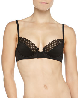Murano Lattice Lace Underwire Bra, Black