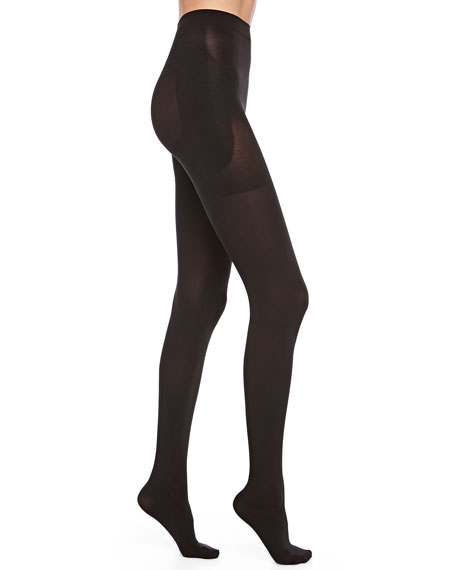 Bootyfull Opaque Tights, Black