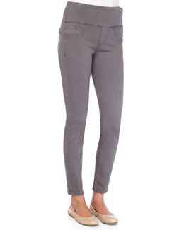 Firming Denim Leggings, Gunmetal
